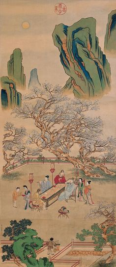 Qiu Ying (仇英) or Shifu, one of the 4 great Ming Dynasty painters. More info: https://www.npm.gov.tw/en/Article.aspx?sNo=04005827