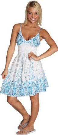 Alki'i Jardin de flores cotton beach sundress
