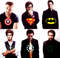 superheroes (captain america & green lantern<33)