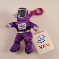 NEW! Intel Viiv - The Bunny People Character Plush Key Chain - FREE SHIPPING! #Intel