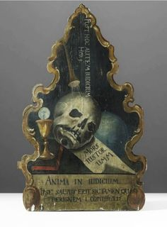 Death & Catses  - blackpaint20:   18th Century memento mori  Italy,...