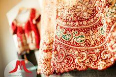 Red Indian wedding bridal sari