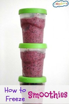 how to freeze smoothies. make a few ahead of time and have lots in your freezer!