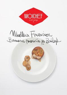 """Moelleux financier banane marinée au Bailey's du chef Yannick, restaurant """"chez Yannick"""" à Toulouse"""