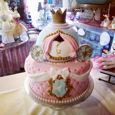 Cinderella birthday cake  #carinaedolce www.carinaedolce.com www.facebook.com/carinaedolce Childrens Parties, Facebook, Cake, Party, Desserts, Food, Pie Cake, Meal, Cakes