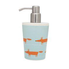 Scion Mr Fox Soap Dispenser. so cute!!