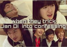 BOF I love this part 'cuz just somehow it shows that they really do love her. Boys over flowers. Oscar Niemeyer, F4 Boys Over Flowers, Boys Before Flowers, Korean Drama Movies, Korean Actors, Korean Dramas, Lee Min Ho, Geum Jan Di, Super Junior