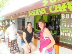Larysa and I at Bayahibe, waiting for our private boat to Saona Island.  #SaonaIsland  #DominicanRepublic #CaribbeanLife