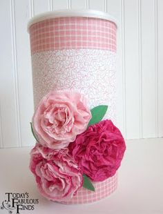 Use coffee/formula/oatmeal canisters for holding valentines