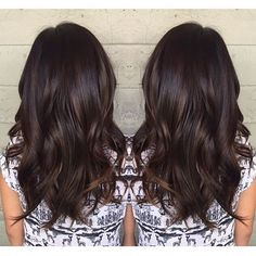 Dark chocolate with a subtle lift. Color by @jackss_ #hair #hairenvy #haircolor…