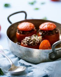 Baked Tomatoes Stuffed with Lamb and Fresh Herbs Recipe