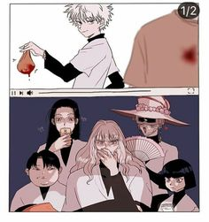 Aww I love this. Hunter x Hunter Hisoka, Killua, Alluka Zoldyck, Hunter X Hunter, Hunter Anime, City Hunter, Mago Anime, Zoldyck Family, Hxh Characters