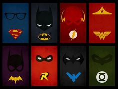 Máscaras!! #Heros #mask #Superman #Batman #TheFlash #WonderWoman #Batgirl #Robin #GreenLantern #NightWing