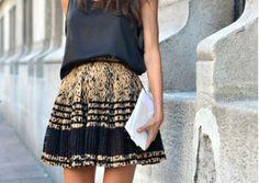 black & gold...AMAZING skirt
