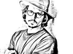 johnny depp - efecto lápiz