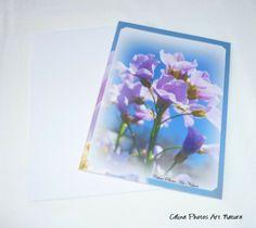 """Carte double 10,5x15cm réalisée à partir d'une photo de fleurs de Cardamine des prés """" Poésie du printemps"""" : Cartes par celinephotosartnature"""