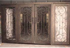 Terminou com porta projeto iluminação lateral para porta de ferro ROT-0209 e 11 tipos de cores e 8 tipos de vidro portas exteriores