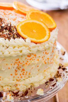 Orange-Carrot Cake - Love In My Oven