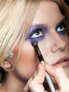 i love purple eyeshadow. favorite. I do this all the time.