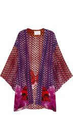 Athena Procopiou Dusk at Majorelle printed silk beach robe