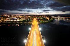 Jätkänkynttilä Bridge in the city of Rovaniemi, FInnish Lapland. Photo by Arttu Nieminen. Filming Locations, Arctic, Finland, Wilderness, Fair Grounds, City, Bridges, Places, Travel