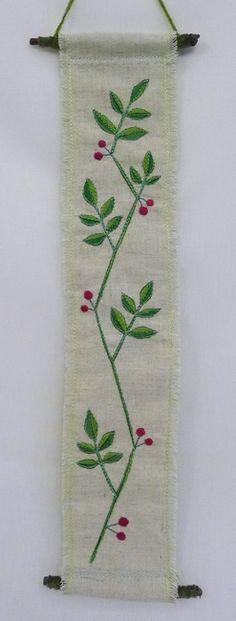 hanging no.4  needlework art Ⓒ Nagako Ono HAPPa_Ya #art #plants #hanging