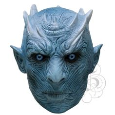 State Of Latex ® NEW ! Latex White Zombie Ice Walker Creature King of The Night Halloween Movie Party Mask Latex Halloween Masks, Halloween Movies, Halloween Make Up, Game Of Thrones Theme, White Zombie, Sculptures, Lion Sculpture, Head Mask, Night King