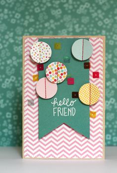"""Good morning everyone! Today we are featuring cards created by one of our design team members using her favorite Pebbles products. """"You can never have too many friendship cards. To make these I mixed the Sunnyside collection with some Hip Hip Hooray embellishments. I used the sentiments form the From Me To You Paper and …"""