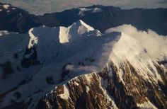 Fantastic aerial view of Illimani, over 23,000 feet high, and the second highest peak in Bolivia.