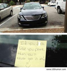 Improve your parking skills
