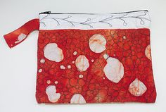 really likeBatik Polka Dot Quilted Bag by OneRoomFibers on Etsy