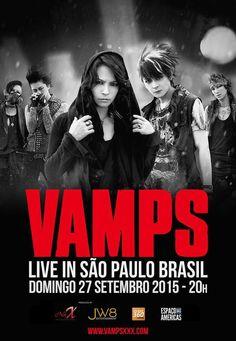 VAMPS LIVE 2015 in São Paulo, Brazil  September 27, 2015 @Cine Joia