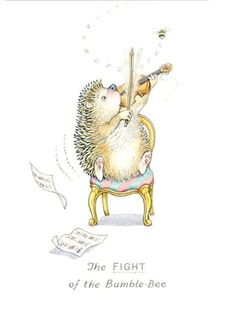 Vintage hedgehog with a violin - Google zoeken