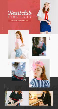 [텐바이텐]Heart Club Time sale~ Lookbook Layout, Lookbook Design, Portfolio Web Design, Fashion Portfolio, Web Layout, Layout Design, Fashion Graphic, Fashion Design, Fashion Banner