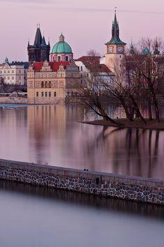 Prague across the water