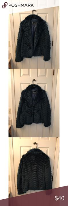 Guess 1981 fur coat . Jackets & Coats Trench Coats