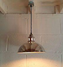 VINTAGE INDUSTRIAL FACTORY LIGHT / LAMP EDISON PENDANT LOFT APARTMENT RETRO