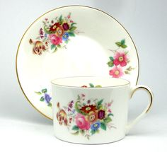 Coalport Junetime Tea Cup and Saucer by JaynesVintageTeashop