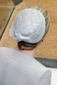 Queen Mathilde of Belgium, hat detail, visits the pavilion of Belgium during the national day of Belgium at the Expo 2015 on June 12, 2015 in Milan, Italy.