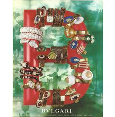 Bulgari campaign for the Serpenti bracelets and watches, circa - photo via French Vogue Bulgari Jewelry, Jewelry Ads, Jewelery, Jewelry Design, Vintage Costume Jewelry, Vintage Costumes, Vintage Jewelry, David Webb, Pierre Hotel
