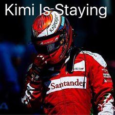 BREAKING NEWS! Our Iceman, Kimi Raikkonen is staying with Ferrari in 2017! Yeaaaaaaaaaaaaaah!  _________  #KimiRaikkonen #F1 #Kimi #Raikkonen #ScuderiaFerrari #Ferrari #Vettel #Hamilton #Alonso #Rosberg #Formula1