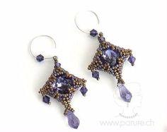 Instant Download Mokuren Bezel Necklace and Earrings por SamohtaC