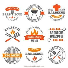 Grill Restaurant, Restaurant Design, Restaurant Logos, Fast Food Logos, Logo Food, Barbecue Design, Barbecue Grill, Barbacoa, Oven Roasted Chicken Wings