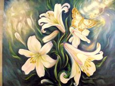 painting oil on canvas Oil On Canvas, Lily, Painting, Art, Craft Art, Painting Art, Kunst, Lilies, Paint