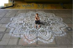 doilies as street and garden art via Leaf Magazine