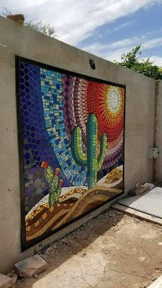 13 Magnificent DIY Mosaic Garden Decorations For Your Inspiration Mosaic Artwork, Mosaic Wall Art, Tile Art, Mosaic Glass, Mosaic Tiles, Glass Art, Mosaic Mirrors, Fused Glass, Stained Glass