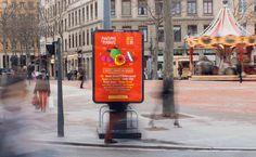 Poster music festival fruits orange paper art lyon