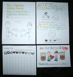 Classroom Freebies: Plus 1 Valentine Addition Booklet