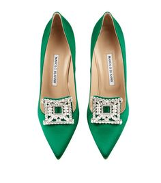 Manolo Blahnik Borlak Embellished Satin Pump | Harrods