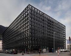 Livio Vacchini - La Ferriera administrative and commercial building, Locarno 2003